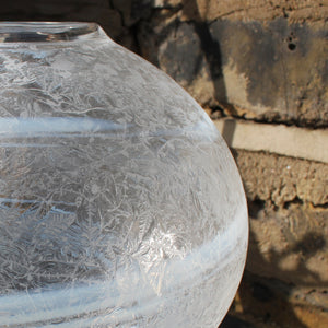 Frosted Vase Round