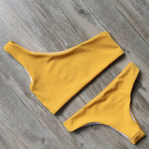 One Shoulder Thong Swim Suit - Altairboutique