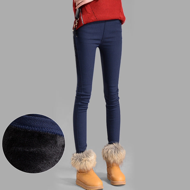 Fleece Elastic Waist Leggings for Women - Altairboutique