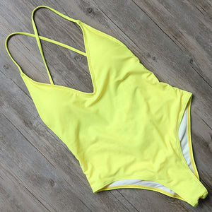 One Piece Padded  Bandage Swim Suit - Altairboutique
