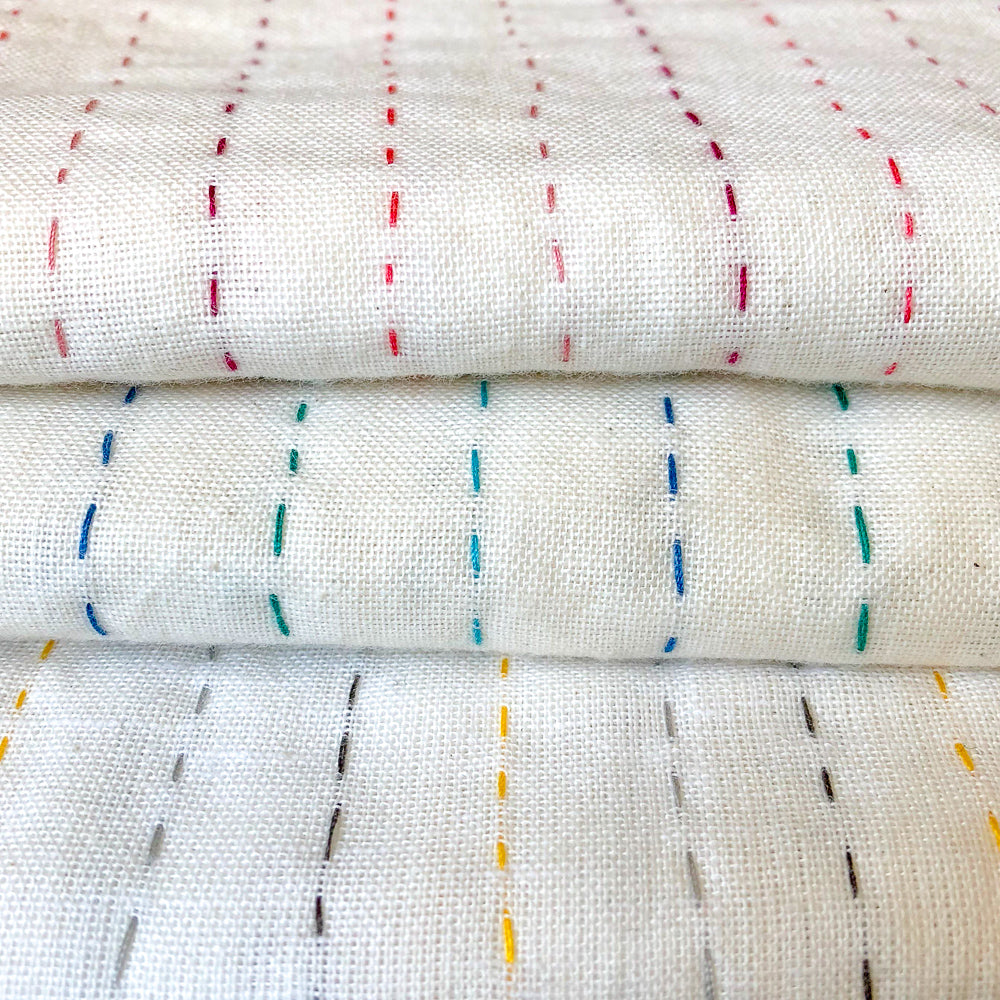 Swaddle blankets kantha stitch detail - Anokha Collection