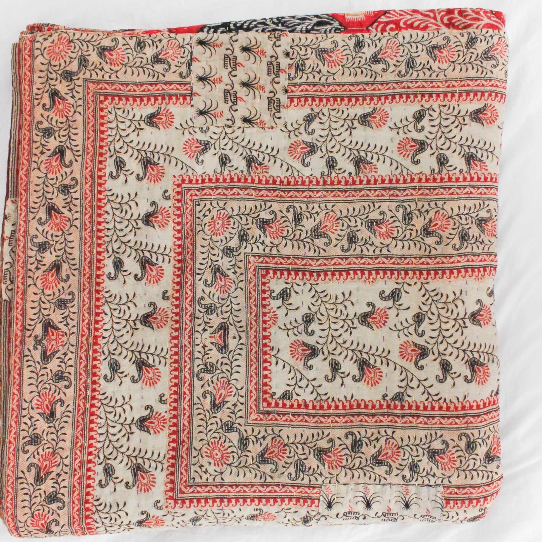 Pink Kantha Quilt - Anokha Collection
