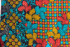 Vintage Kantha Quilt with red and teal flowers detail - Anokha Collection