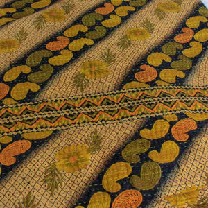 Yellow Kantha Quilt - Anokha Collection
