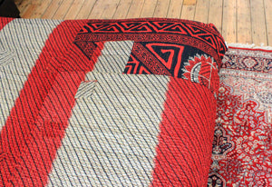 Vintage red Kantha bedspread - Anokha Collection