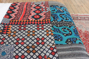 Colourful Vintage Kantha bedspread - Anokha Collection