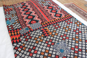 Vintage red Kantha throw - Anokha Collection