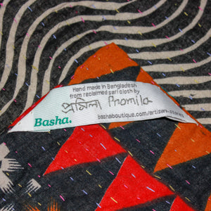 Vintage Kantha Quilt label- Anokha Collection