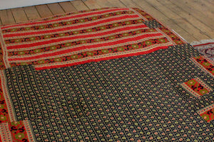 Vintage black Kantha bedspread - Anokha Collection
