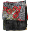 Black and Green Kantha Quilt - Anokha Collection