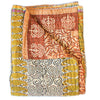 Mustard Yellow Kantha Quilt - Anokha Collection