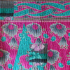 Indian Pink Kantha Quilt Pink Side - Anokha Collection