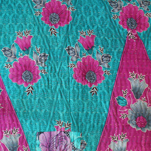 Indian Pink Kantha Quilt Pink Side 2 - Anokha Collection