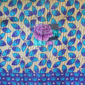 Indian Pink Kantha Quilt Purple Side 3 - Anokha Collection