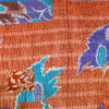 Orange Kantha Quilt Detail - Anokha Collection