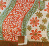 Orange Kantha Quilt Side 1 - Anokha Collection