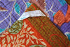 Orange Kantha Quilt Label - Anokha Collection