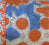 Orange and Blue Kantha Quilt Orange Side 2 - Anokha Collection