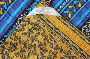 Black and Green Kantha Quilt Label- Anokha Collection