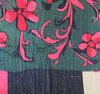 Black and Green Kantha Quilt Green Side - Anokha Collection
