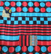 Black Kantha Quilt Geometric Pattern - Anokha Collection