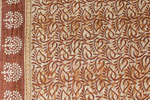 Brown Kantha Quilt - Anokha Collection