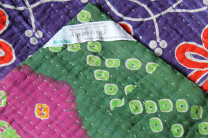 Purple Kantha Quilt Label - Anokha Collection