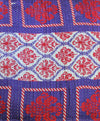 Red and Purple Kantha Quilt pattern - Anokha Collection