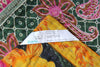 Dark Green Kantha Quilt Label - Anokha Collection