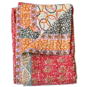 Red Baby Quilt - Anokha Collection