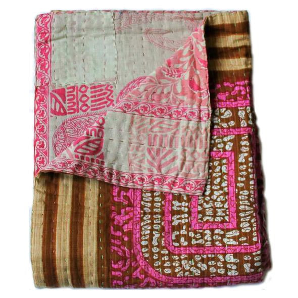 Pink Baby Quilt - Anokha Collection