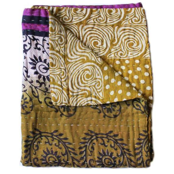 Mustard Yellow Baby Quilt - Anokha Collection