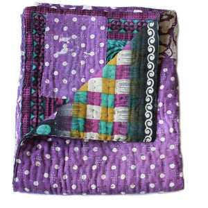 Purple Baby Quilt - Anokha Collection