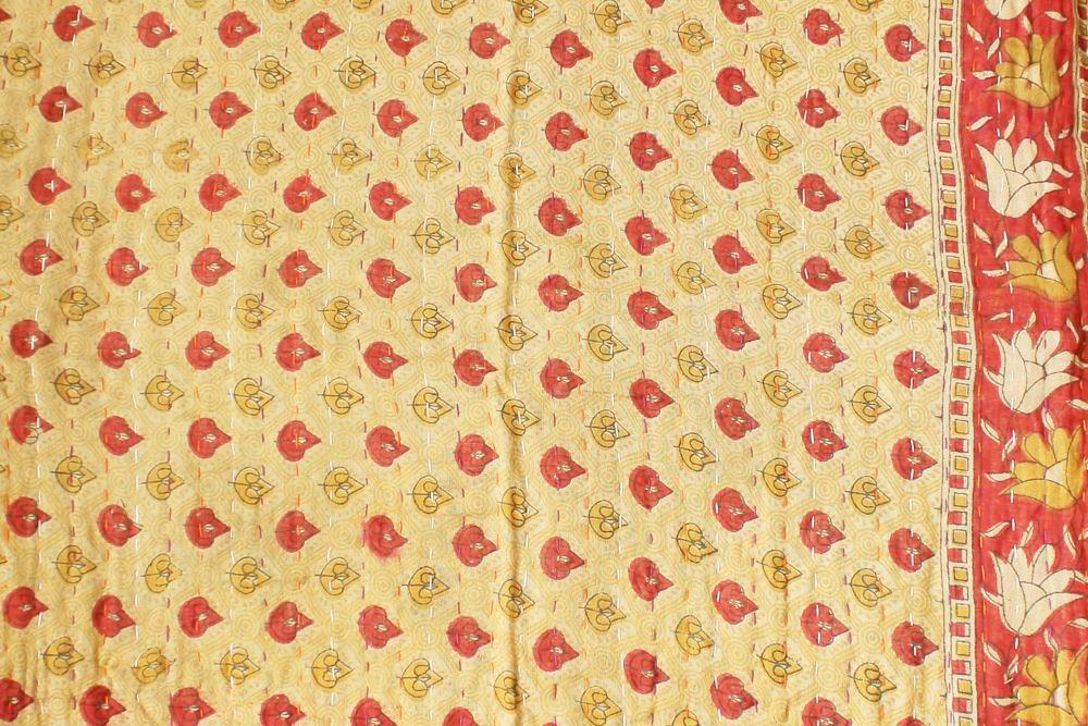 Green and Yellow Baby Quilt Yellow side - Anokha Collection