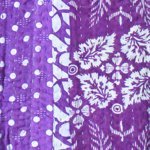 Purple Baby Quilt Kantha Stitch - Anokha Collection
