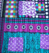Purple Baby Quilt side 1- Anokha Collection
