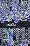 Light Blue and Black Baby Quilt Pattern Detail- Anokha Collection