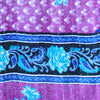 Blue and Purple Baby Quilt Kantha Stitch - Anokha Collection