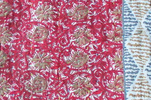 Red Baby Quilt detail - Anokha Collection
