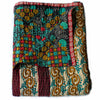 red and yellow Kantha Quilt folded - Anokha Collection