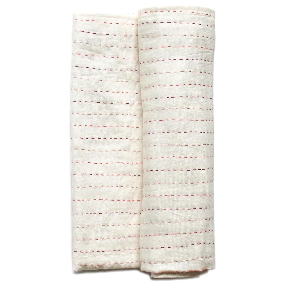 Kantha Swaddle Blanket - baby girl - Anokha Collection