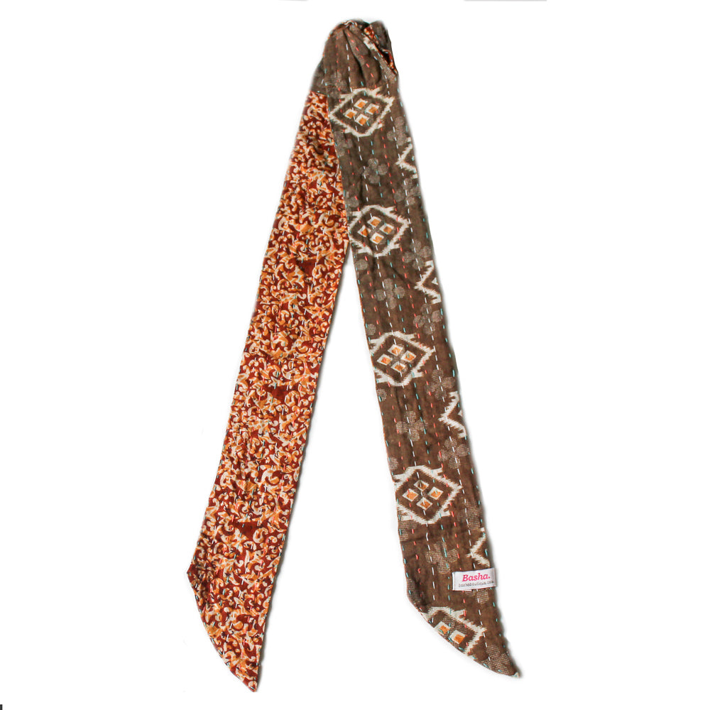 Kantha Headband Brown 1 - Anokha Collection