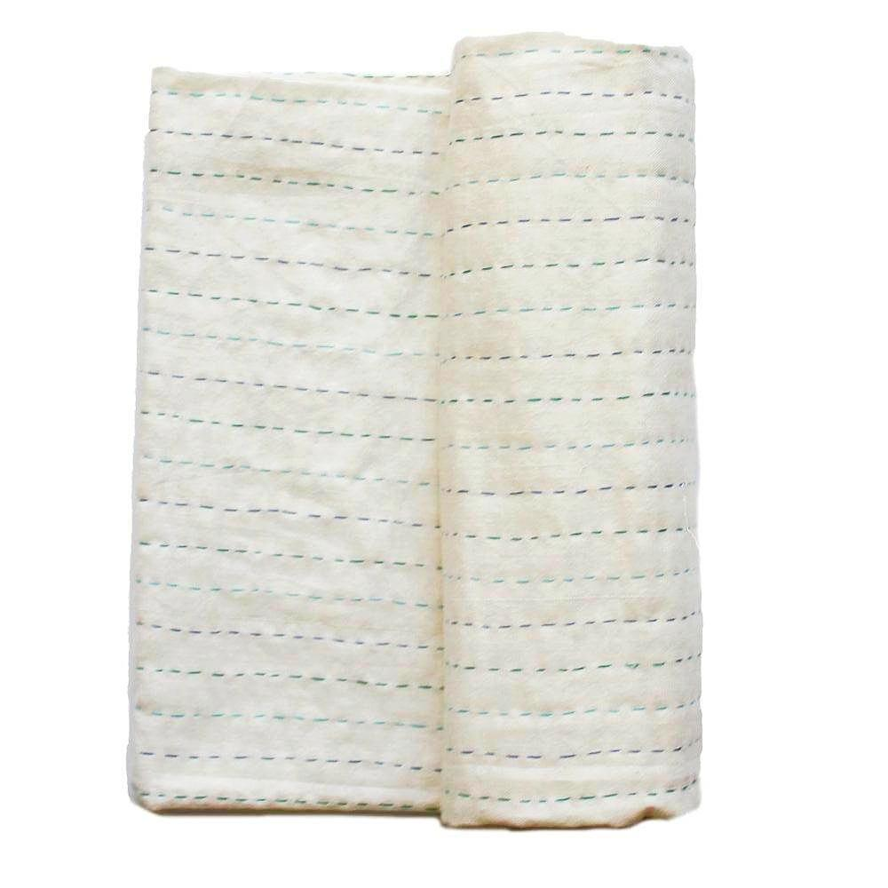Kantha swaddle blanket baby boy - Anokha Collection