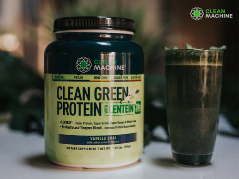 clean green protein smoothie cup