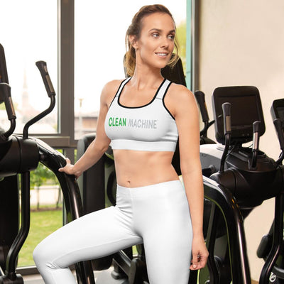 Clean Machine Padded Sports Bra WHT