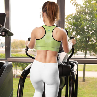 Clean Machine Padded Sports Bra GRN