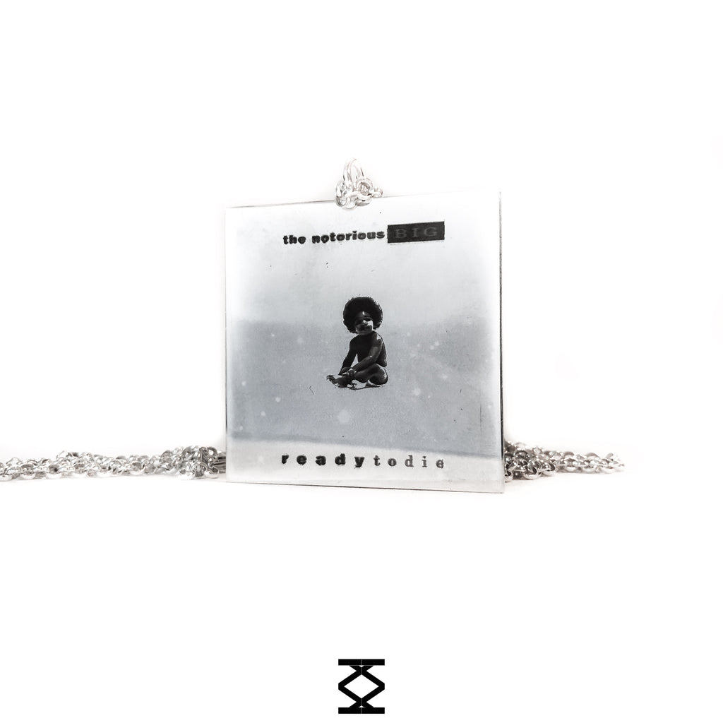 THE NOTORIOUS BIG - 925 silver necklace of music album