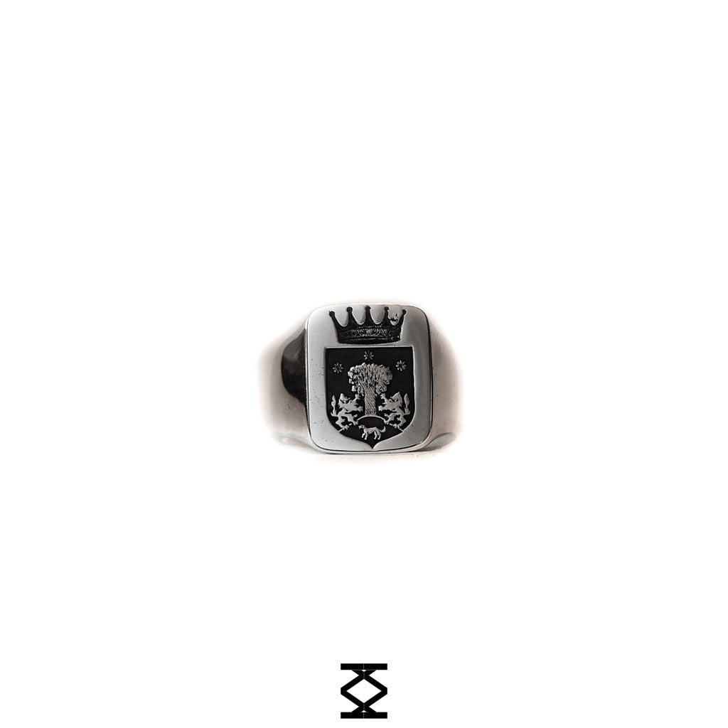 Fam Crest - personalized 925 silver ring with family crest