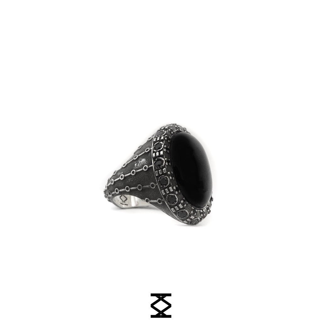 Niko - silver 925 ring personalized with precious stones and hard stone