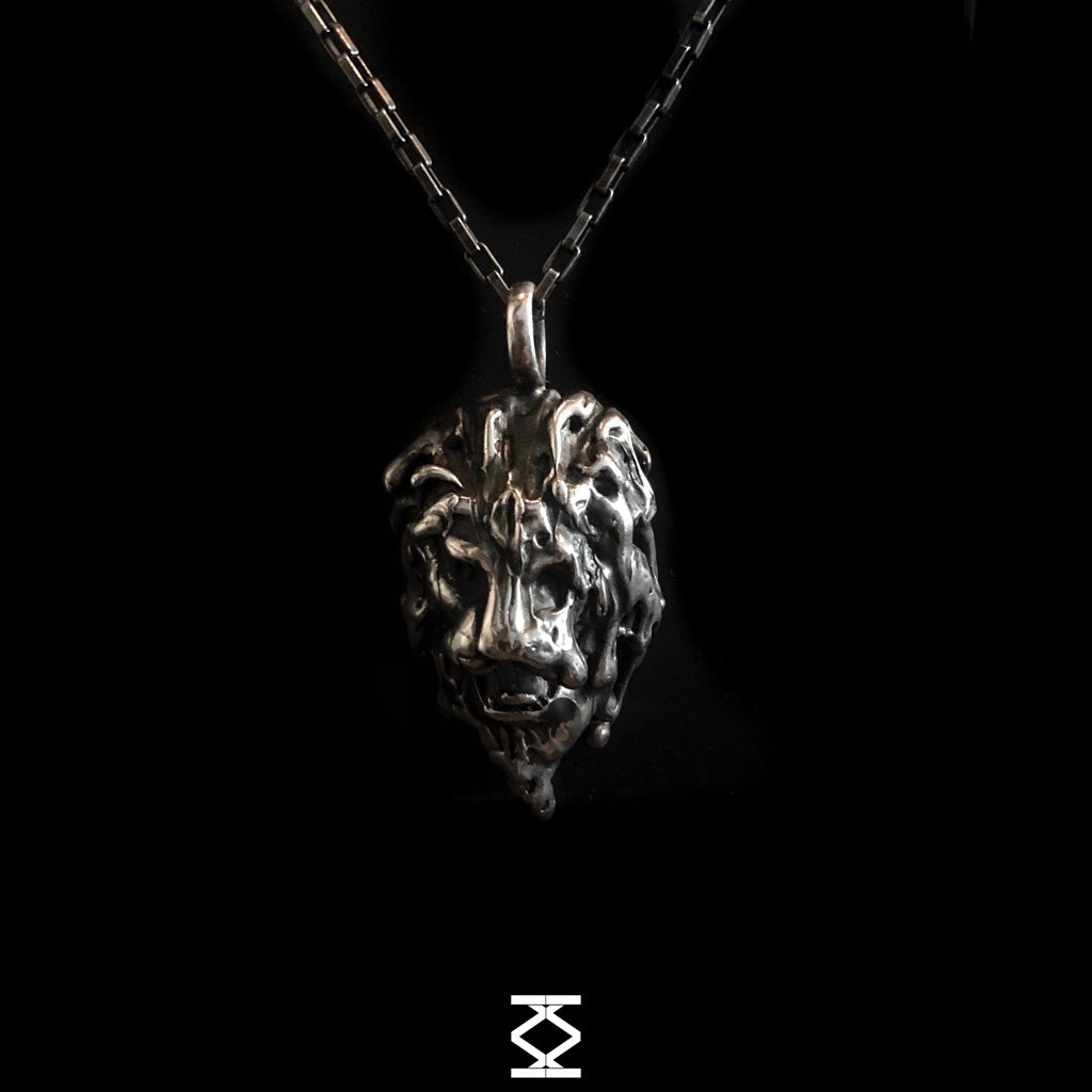 The King - Silver lion pendant 925